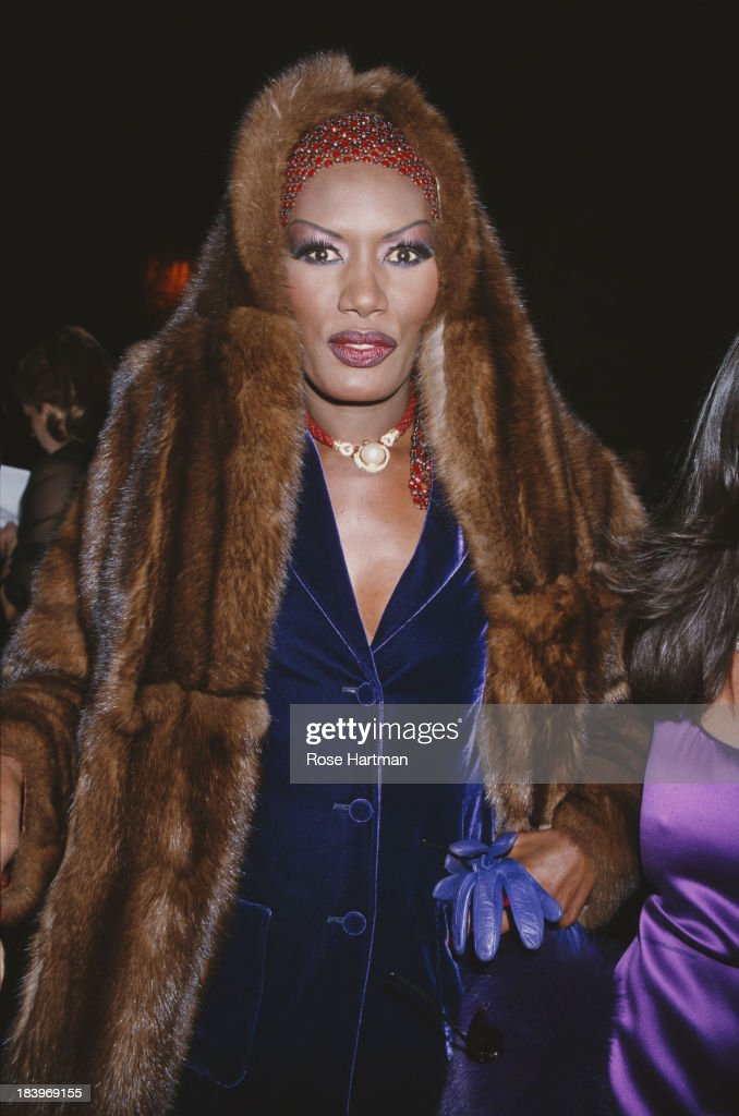 Jamaican singer, actress and model Grace Jones attends the 'Made In Italy' awards ceremony at Cipriani, 42nd Street, New York City, 2000.