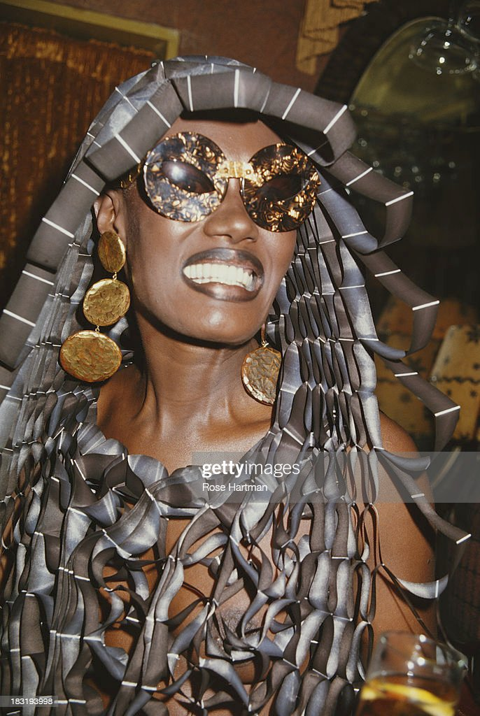 Jamaican singer, actress and model Grace Jones, circa 1995.
