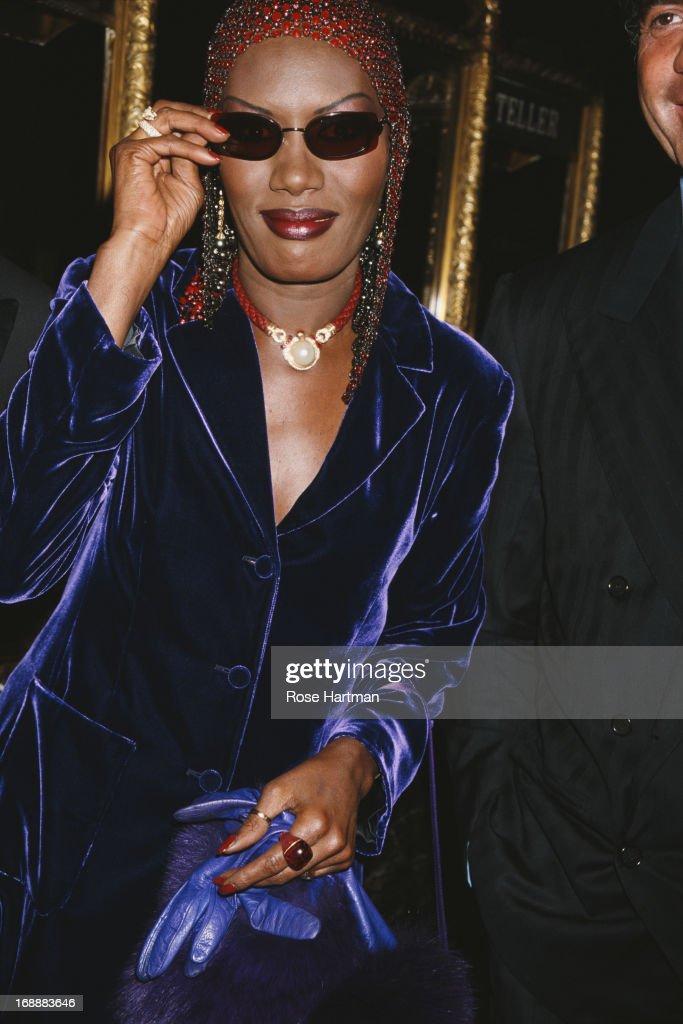 Jamaican singer, actress and model Grace Jones, circa 1996.