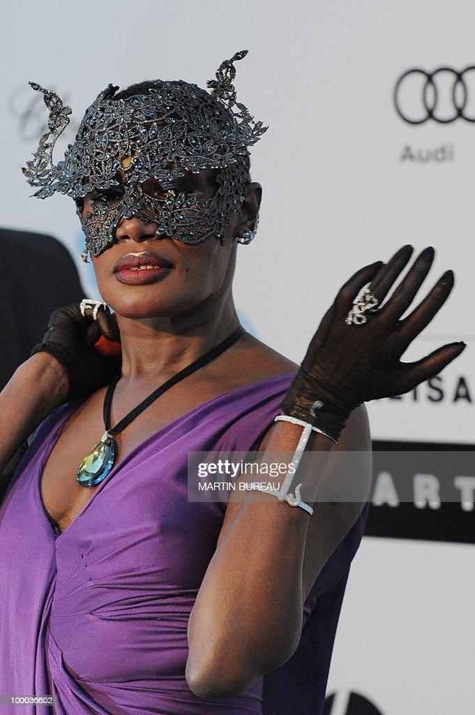 Jamaican singer and model Grace Jones po