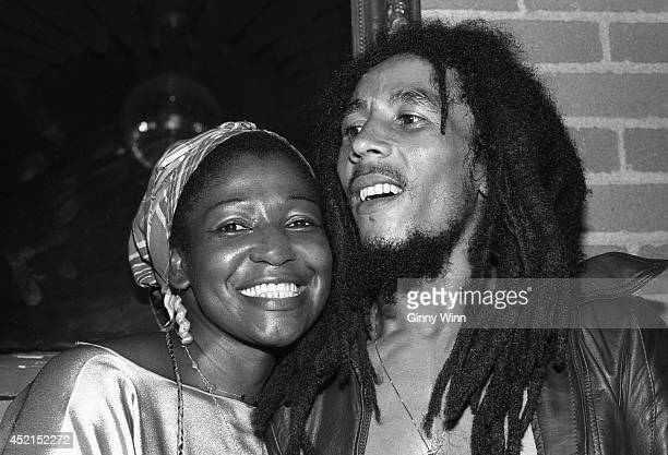 Jamaican singer and songwriter Bob Marley and wife Rita Marley July 26 1978 at The Daisy In Beverly Hills California