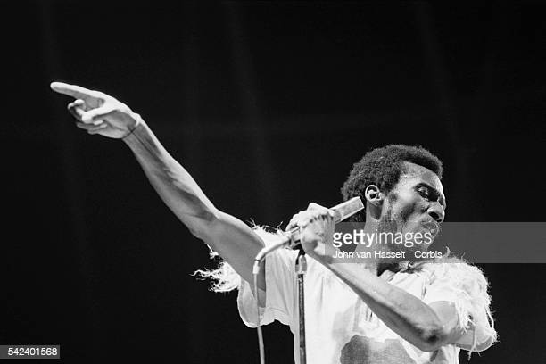 Jamaican singer Jimmy Cliff performs on stage at Porte de Pantin in Paris