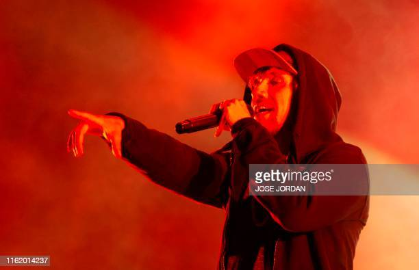 Jamaican singer Lila Ike performs during the first day of the Rototom Sunsplash European Reggae Festival in Benicassim, Castellon province, on August...