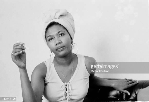 Jamaican singer Marcia Griffiths London 1971