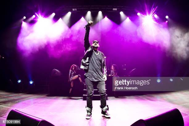 Jamaican singer Sean Paul performs live on stage during a concert at the Tempodrom on November 16 2017 in Berlin Germany