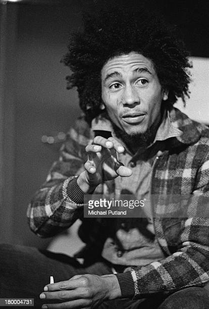 Jamaican singersongwriter Bob Marley of Bob Marley and the Wailers 31st May 1973