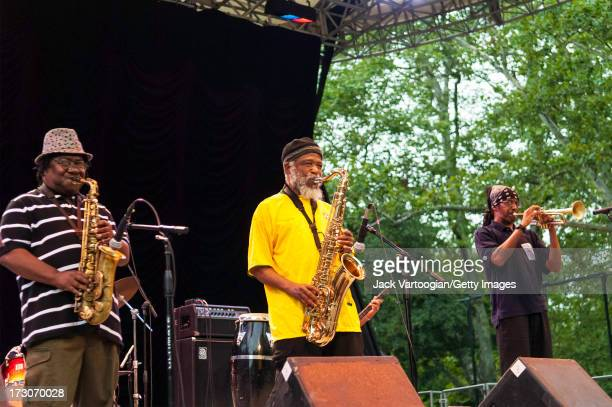 Jamaican ska band the Skatalites perform at the Putumayo World Music 15th Anniversary show at Central Park SummerStage New York New York July 27 2008...
