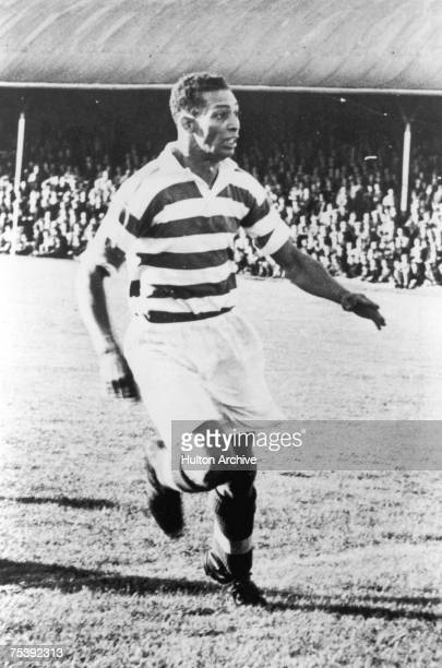 Jamaican striker Gil Heron known as 'the Black Arrow' playing for Celtic 1951 Heron was the first black player at the club and father of musicain and...