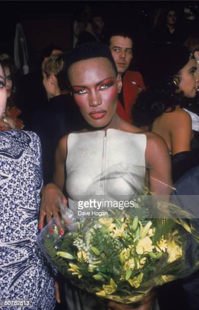 Jamaican-born model-singer-actress Grace Jones, circa 1990.