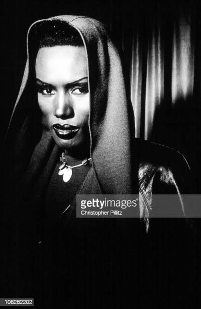 Jamaicanborn performer singer and actress Grace Jones in London circa 1985