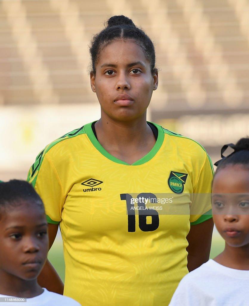 Jamaica's Dominique Bond-Flasza looks on ahead of the friendly ...