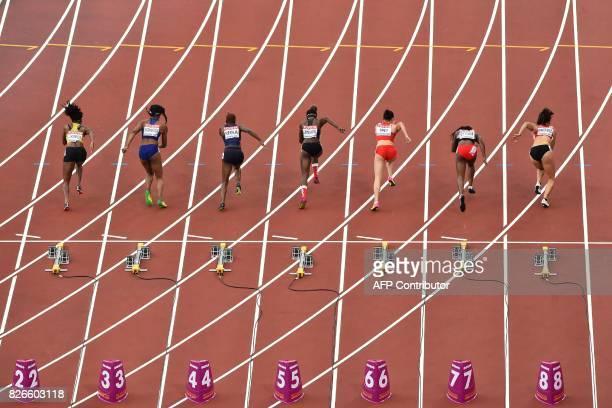 Jamaica's Elaine Thompson, US athlete Ariana Washington, France's Orphée Neola, Canada's Crystal Emmanuel, China's Wei Yongli, Trinidad and Tobago's...