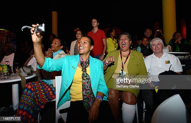 Jamaica's High Commissioner Her Excellency Aloun Ndombet Assamba is seen during Jamaica A Nation on a Mission Welcomes Olympic Fans to Jamaica House...