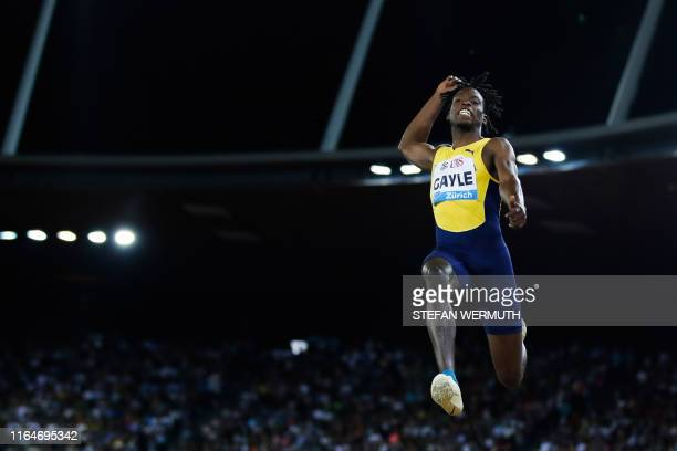 Jamaica's Tajay Gayle competes in the Men Long Jump during the IAAF Diamond League competition on August 29 in Zurich.