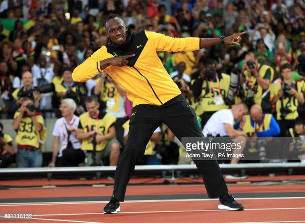 Jamaica's Usain Bolt on his lap of honour during day ten of the 2017 IAAF World Championships at the London Stadium