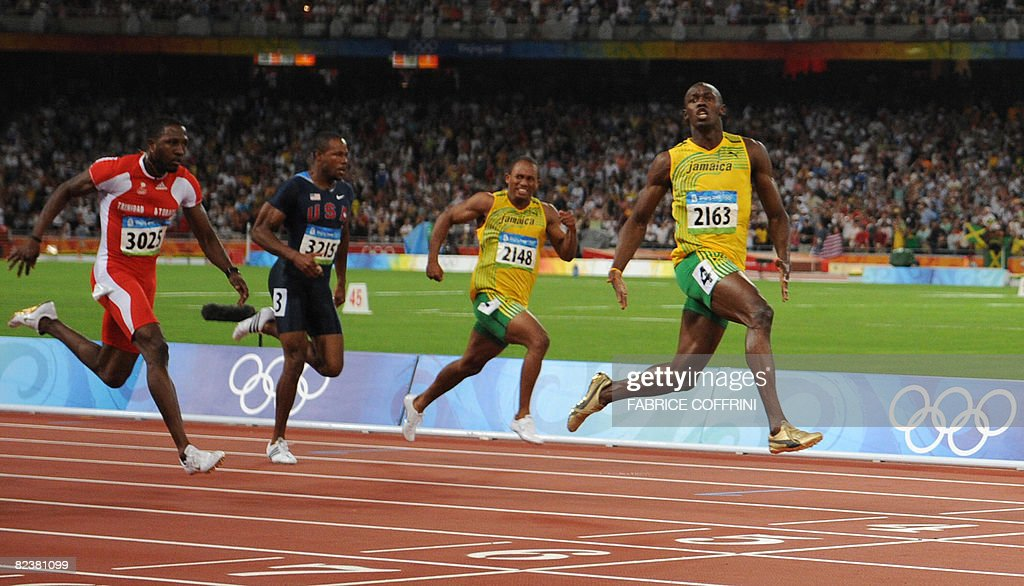 Jamaica's Usain Bolt wins the men's 100m final at the ...