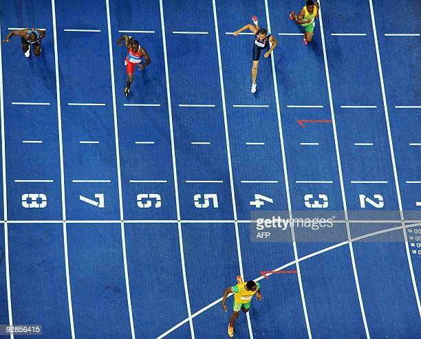 Jamaica's Usain Bolt wins the men's 200m final race of the 2009 IAAF Athletics World Championships on August 20 2009 in Berlin Jamaican Usain Bolt...