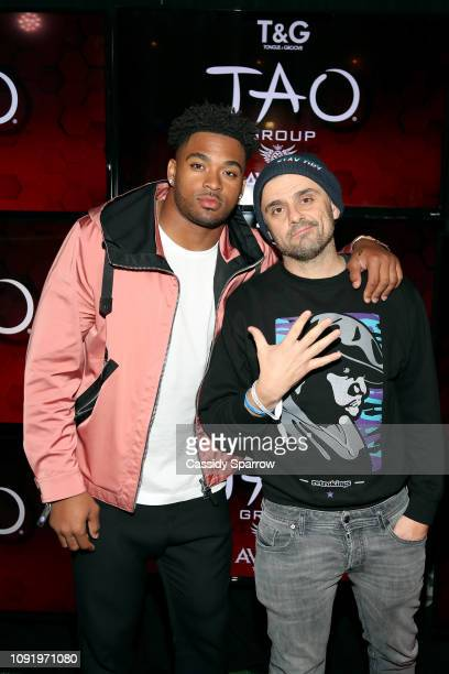 Jamal Adams and Gary Vaynerchuk attend TAO group's Big Game Takeover presented by Tongue Groove on January 31 2019 in Atlanta Georgia