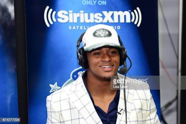 Jamal Adams of LSU visits the SiriusXM NFL Radio talkshow after being picked overall by the New York Jets during the first round of 2017 NFL Draft at...