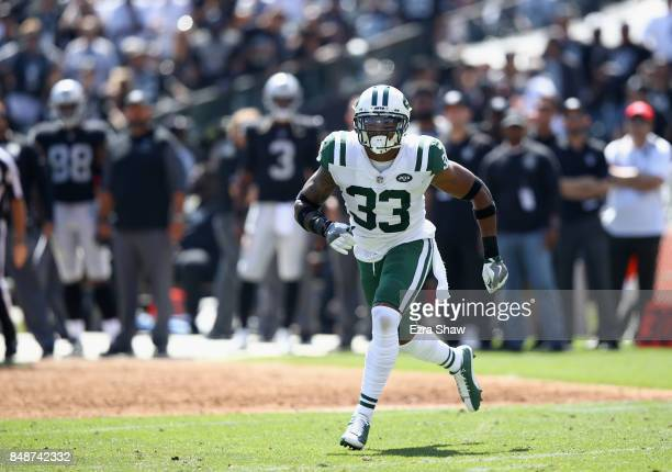 Jamal Adams of the New York Jets in action during their game against the Oakland Raiders at OaklandAlameda County Coliseum on September 17 2017 in...