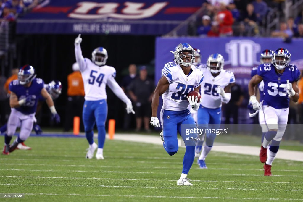 Detroit Lions v New York Giant : News Photo