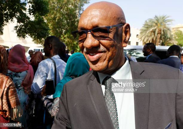 Jamal AlSheikh Sudan's peace envoy to South Sudan is seen at the foreign ministry headquarters in the capital Khartoum on October 17 2018