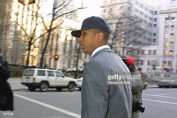 Jamal Barrow exits court after opening arguments in his trial on attempted murder and gun possession charges January 29, 2001 in New York City. The...