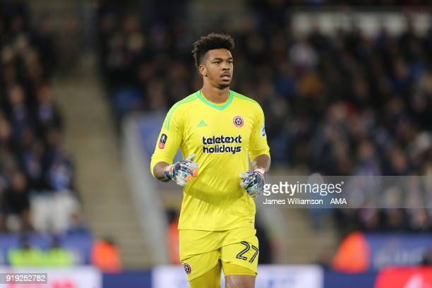 Jamal Blackman of Sheffield United during the Emirates FA Cup Fifth Round match between Leicester City and Sheffield United at The King Power Stadium...