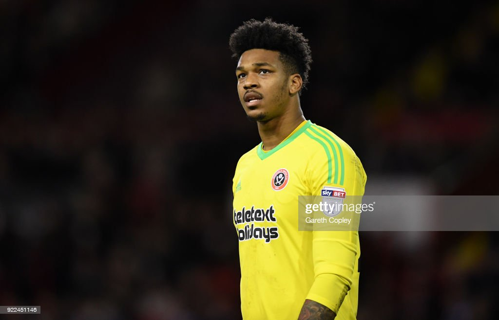 Jamal Blackman of Sheffield United during the Sky Bet Championship match between Sheffield United and Queens Park Rangers at Bramall Lane on February 20, 2018 in Sheffield, England.