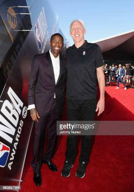 Jamal Crawford and Bill Walton attend 2018 NBA Awards at Barkar Hangar on June 25 2018 in Santa Monica California