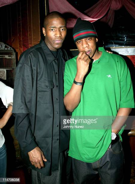 Jamal Crawford and JayZ during Jamal Crawford's 25th Birthday Party at 58 in New York City New York United States