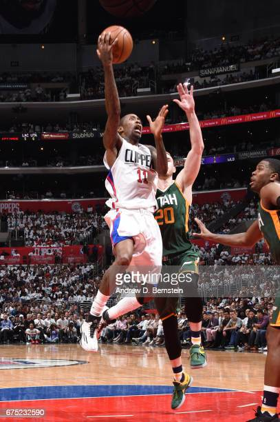 Jamal Crawford of the LA Clippers goes up for a shot against the Utah Jazz during Game Seven of the Western Conference Quarterfinals of the 2017 NBA...