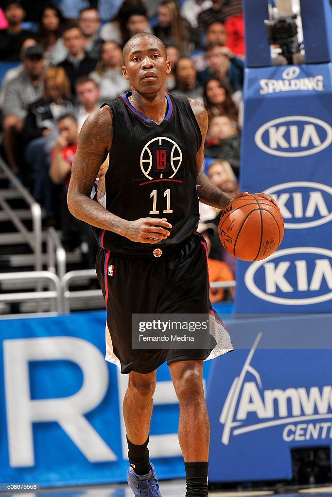Jamal Crawford #11 of the Los Angeles Clippers handles the ball during the game against the Orlando Magic on February 5, 2016 at Amway Center in Orlando, Florida.