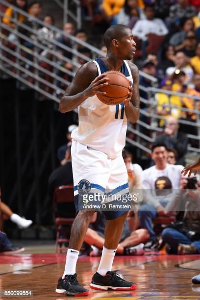 Jamal Crawford of the Minnesota Timberwolves handles the ball during the preseason game on September 30 2017 at Honda Center in Anaheim California...