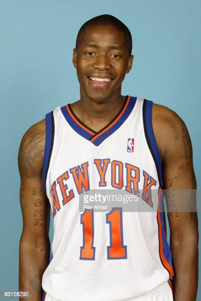 Jamal Crawford of the New York Knicks poses for a portrait during NBA Media Day on September 29 2008 at the Madison Square Garden Training Center in...