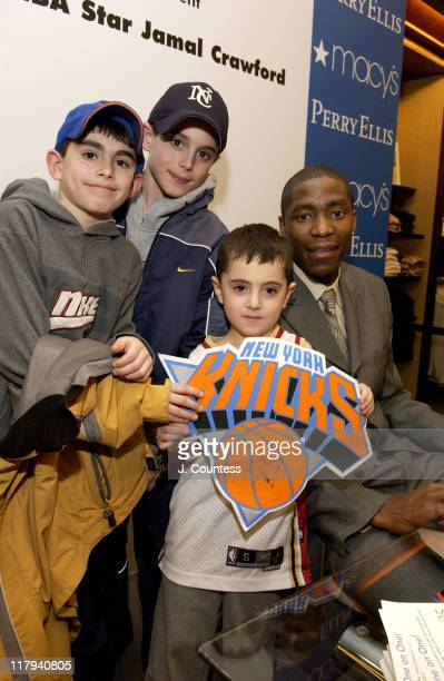 Jamal Crawford poses with Bryan Jake and Daniel Hamerschlag