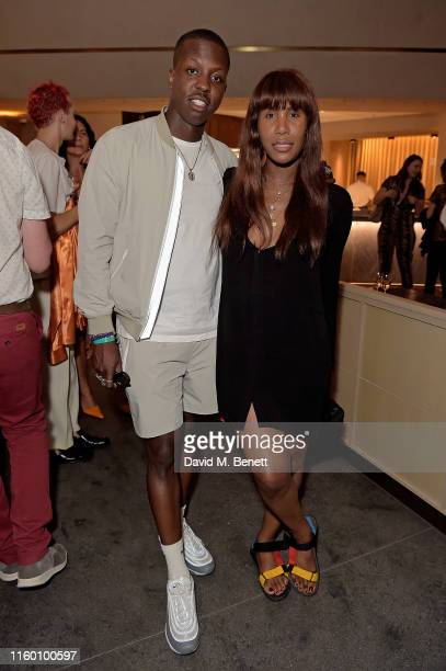 Jamal Edwards and Honey Dijon attend The Stratford launch party with PerrietJouet Champagne on July 04 2019 in Stratford England