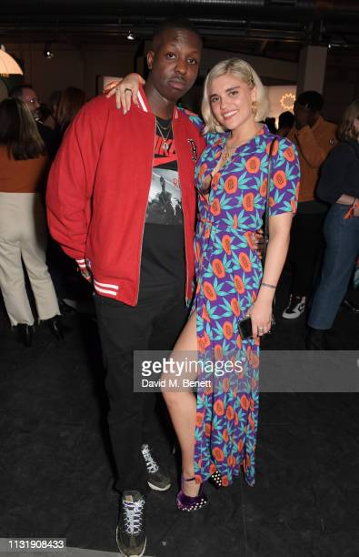 Jamal Edwards and Tigerlily Taylor attend 'Hermes Step Into The Frame' at Nine Elms on March 21 2019 in London England