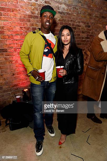 Jamal Edwards and Vanessa White attend the Agi Sam x Lacoste Lve Collection Launch on October 11 2016 in London United Kingdom