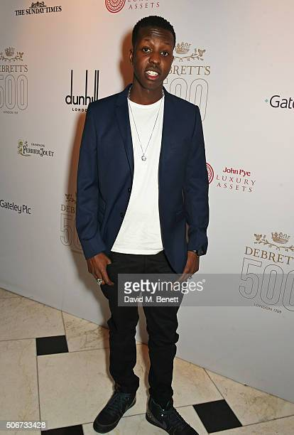 Jamal Edwards attends Debrett's 500 party hosted at Rosewood London on January 25 2016 in London England Debrett's 500 recognises the most...