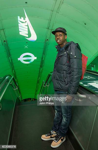 Jamal Edwards attends NikeLab x Roundel launch at Charing Cross underground Station on November 9 2016 in London England