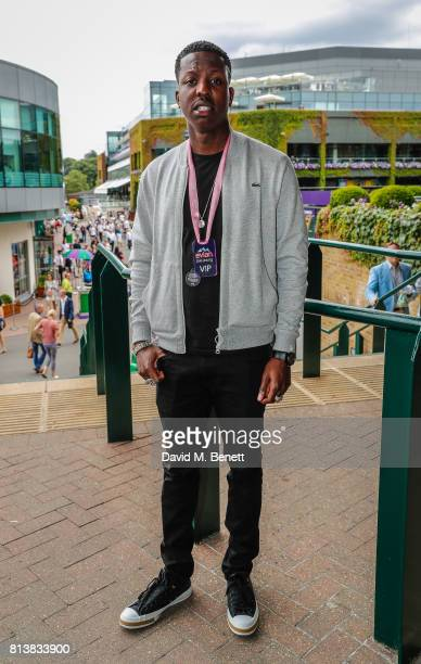 Jamal Edwards attends the evian Live Young suite during Wimbledon 2017 on July 11 2017 in London England