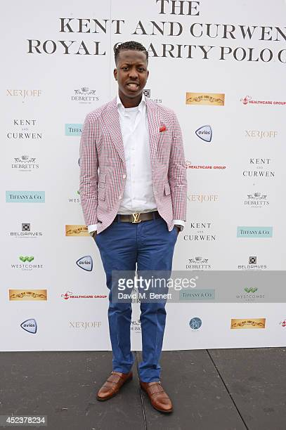 Jamal Edwards attends the Kent and Curwen Royal Charity Polo Cup at Watership Down Sydmonton Court Estate on July 19 2014 in Newbury United Kingdom