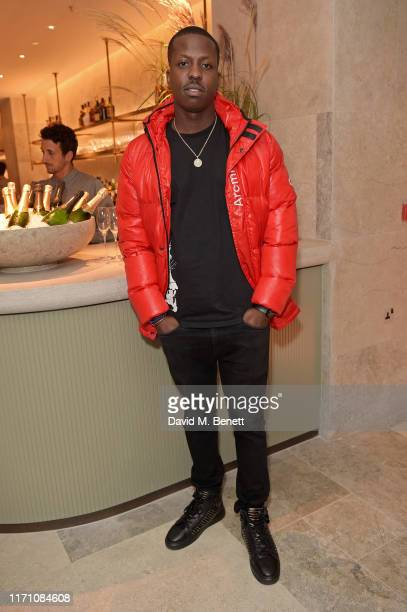 Jamal Edwards attends the launch of Allegra at The Stratford with Perrier Jouet Champagne on September 25, 2019 in London, England.