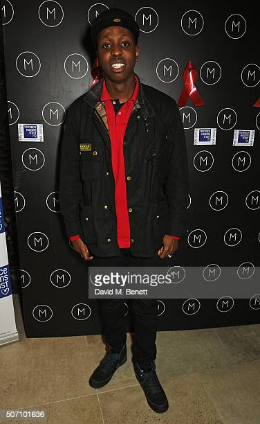 Jamal Edwards attends the launch of M Victoria Street in aid of Terrence Higgins Trust on January 27 2016 in London England