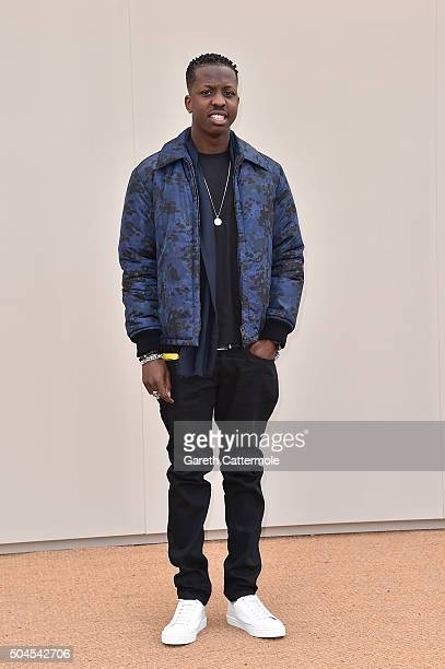 Jamal Edwards wearing Burberry attends the Burberry Menswear January 2016 Show on January 11 2016 in London United Kingdom