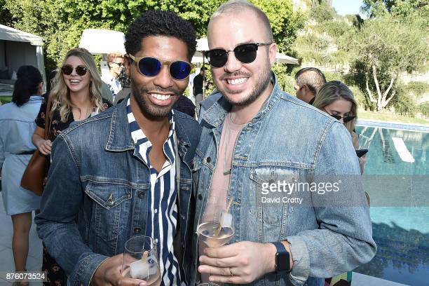 Jamal Jackson and Jake Spencer Hammel attend the Barclays Uber Visa Card Launch Party in the Hollywood Hills on November 18 2017 in Los Angeles...