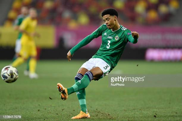 Jamal Lewis of Northern Ireland during UEFA Nations League 2021 match between Romania and Northern Ireland at Arena Nationala, in Bucharest, Romania,...