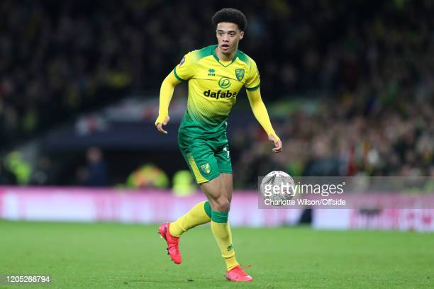 Jamal Lewis of Norwich during the FA Cup Fifth Round match between Tottenham Hotspur and Norwich City at Tottenham Hotspur Stadium on March 4 2020 in...