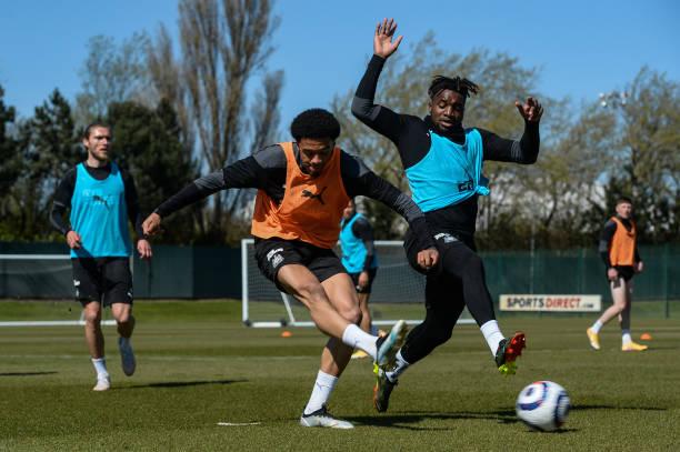 GBR: Newcastle United Training Session